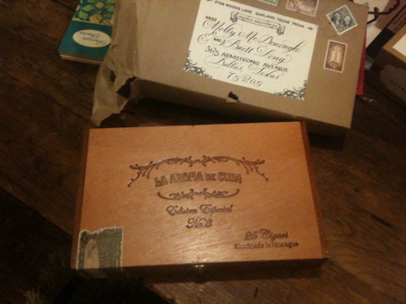 301 moved permanently for Cigar box wedding invitations
