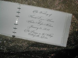 Guest Book Wedding Page