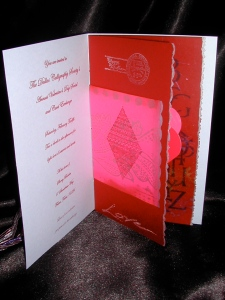 Inside cover of Invitation