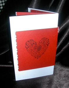 Back of Valentine Invitation