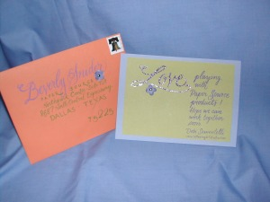 Hand Lettered Card and Envelope