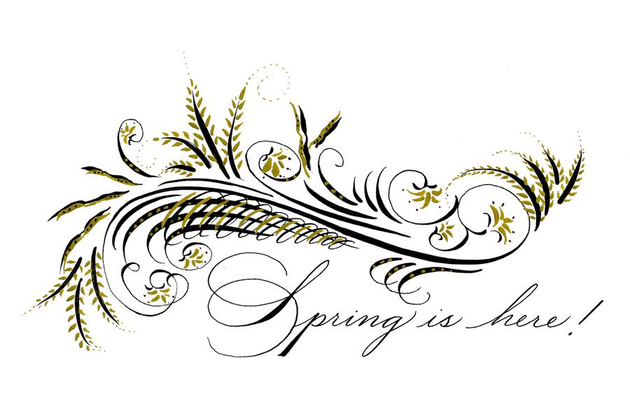Spencerian Flourishing With Chief White House Calligrapher