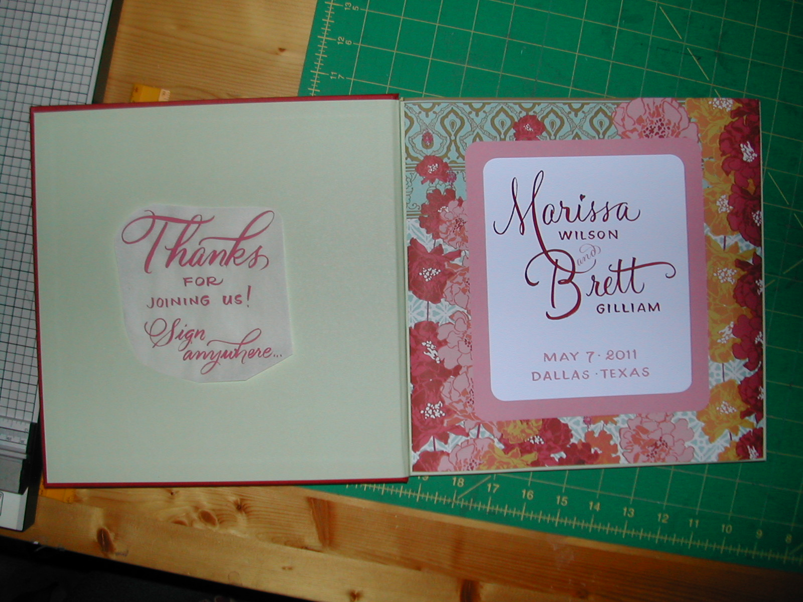 Diy guest book lettering art studio rough layouts solutioingenieria Image collections