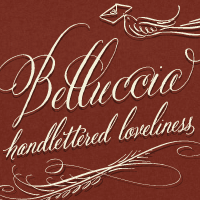 My Beluccia calligraphy font