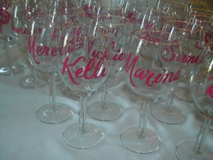 Bridal shower favors with sparkle