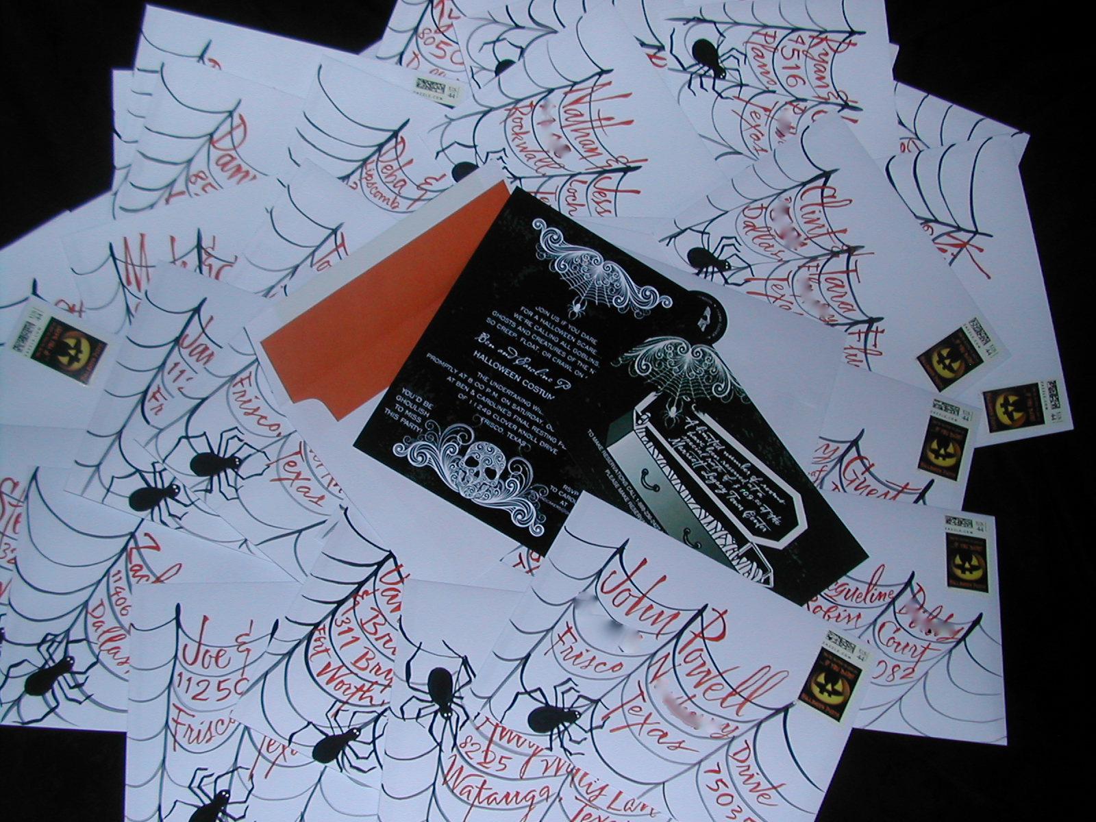 diy halloween envelopes lettering art studio