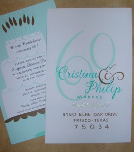 60th Birthday envelope by Lettering Art Studio