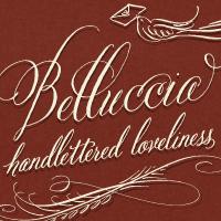 tree print, Belluccia calligraphy font, wedding font, cursive font, fancy font, script font, hand lettered font