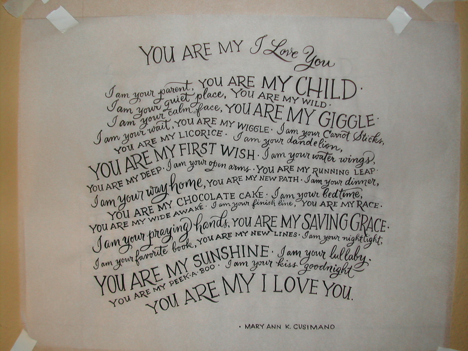 You Are My Love Poem
