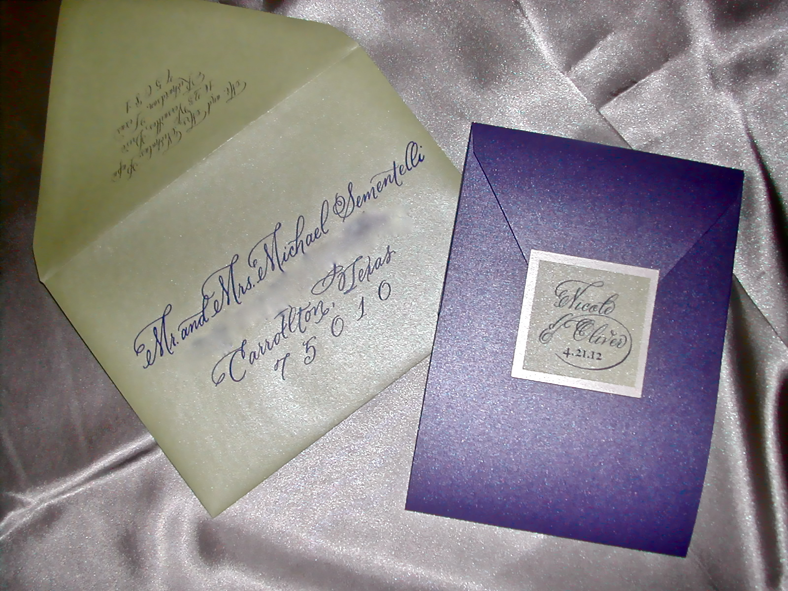 Fonts For Wedding Invitations: DIY Wedding Invitation With Cursive Font