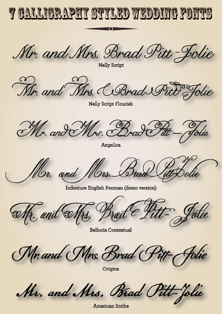 Wedding fonts lettering art studio