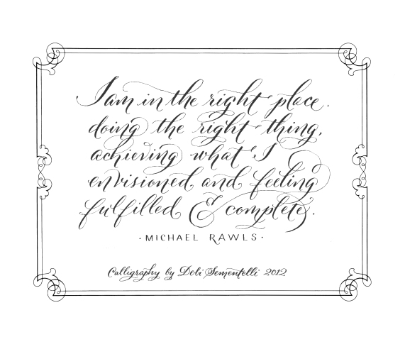 Calligraphy Font Lettering Art Studio Page 15
