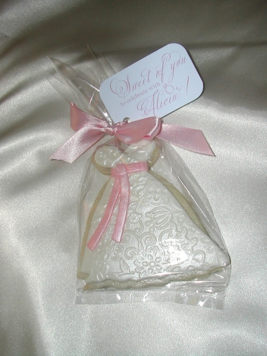 Cookie Bridal Favor , Decorated Cookie, Bridal Dress Cookie, Wedding Favor, Bridal Shower Favor