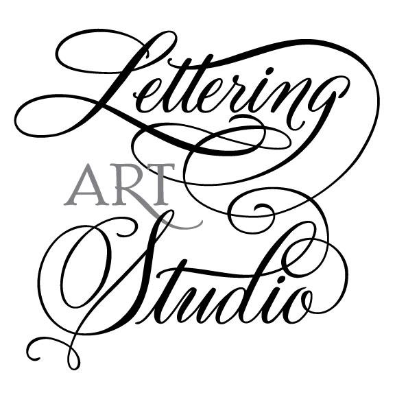 New lettering art studio logo design