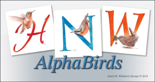 birds, letters with birds, birds with letters, alphabet letters