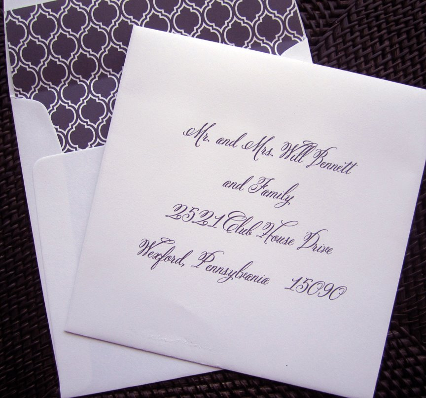 Cursive Wedding Invitations