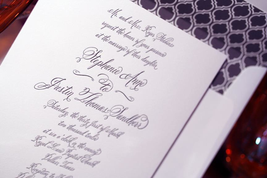 Cursive Font Belluccia On Wedding Invitation Lettering Art Studio