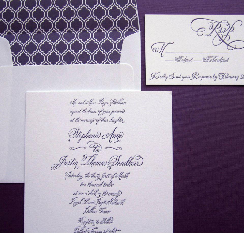 Cursive font Belluccia on Wedding Invitation   Lettering Art Studio
