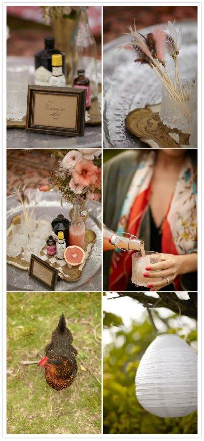 bohemian party on 100 layer cake blog, cursive font, belluccia font, wedding font, script font, calligraphy font