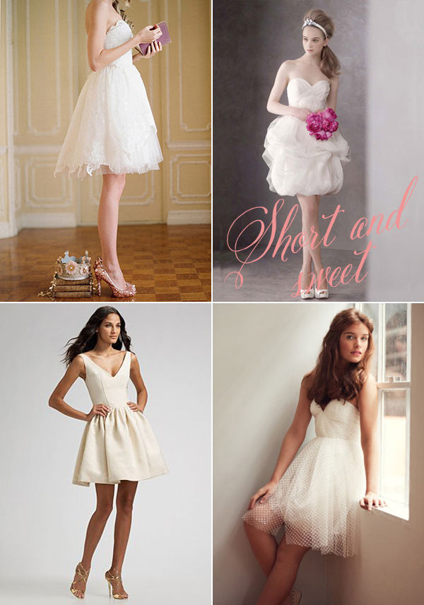 Lovely wedding dresses featured on snippet and ink for Short wedding dresses 2012