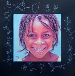 Daggi Wallace, paintings of children, Moni's Kids