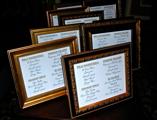 signature drink menu, Eat, Drink and Be Married sign, wedding sign, drink sign