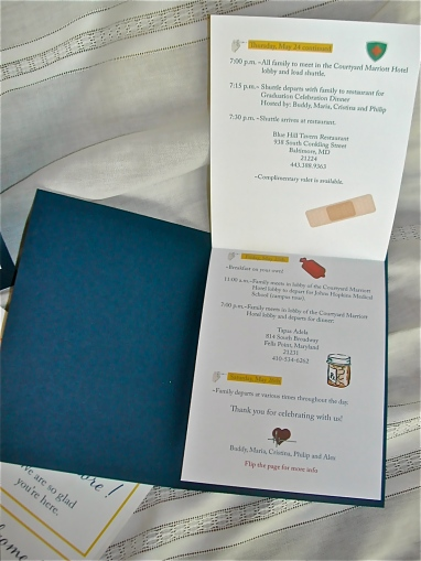 Medical School Graduation Party, Lettering Art Studio, creative invitation