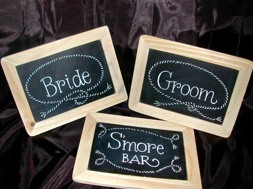 rustic wedding signs, bride and groom signs,calligraphy, lettering on chalkboard, chalkboard signs, DIY wedding signs, hand lettering