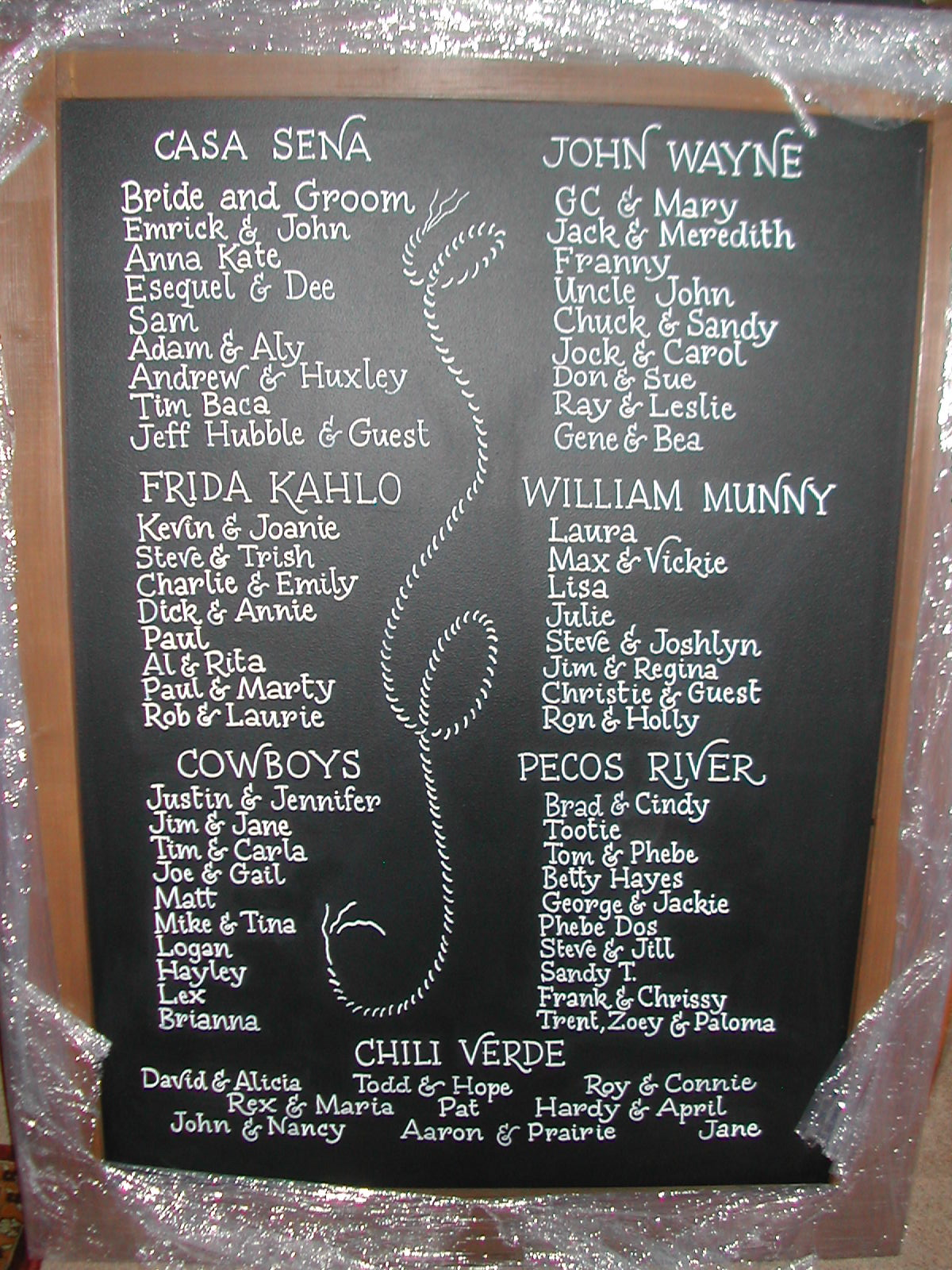 Rustic Wedding Signscalligraphy Lettering On Chalkboard Signs DIY