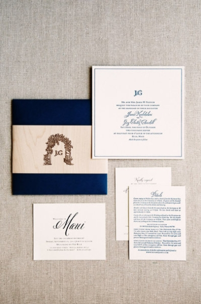 wedding invitation with belluccia font, wedding invitation suite, navy wedding invitation