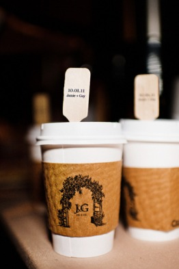 custom coffee cups for wedding