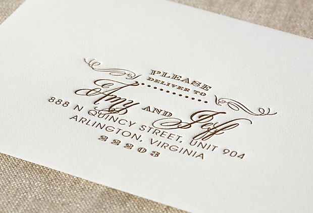 Wedding invitation lettering art studio page