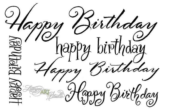 Happy Birthday | Lettering Art Studio