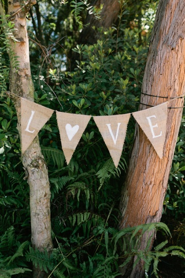 diy wedding banner, burlap banner, love banner