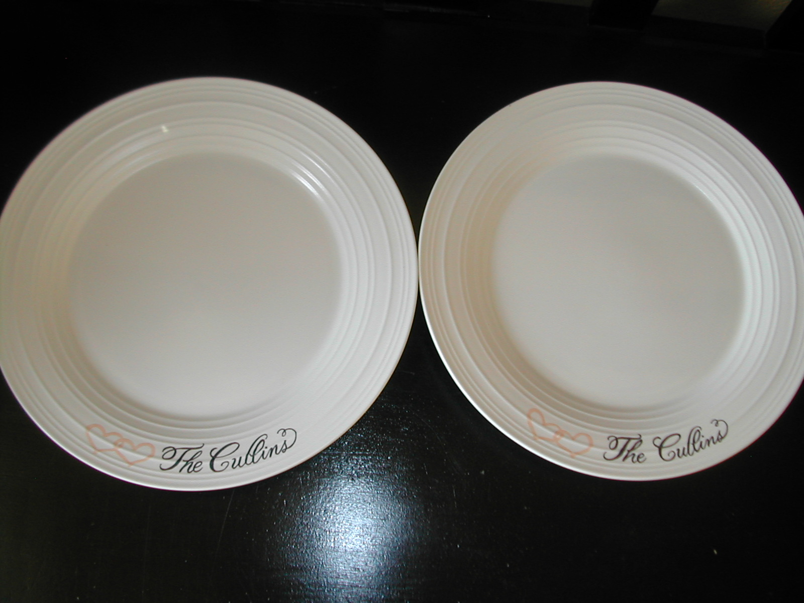 Wedding Dinner Plates | Wedding Dinner Plates Lettering Art Studio