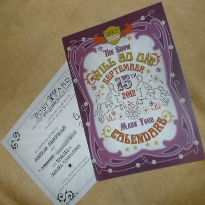 big top themed wedding invitation, circus themed wedding invitation, wedding invitation