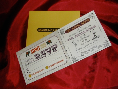 big top themed wedding invitation, circus themed wedding invitation, wedding invitation, rsvp,Belluccia font, cursive font, fancy font, script font, wedding font
