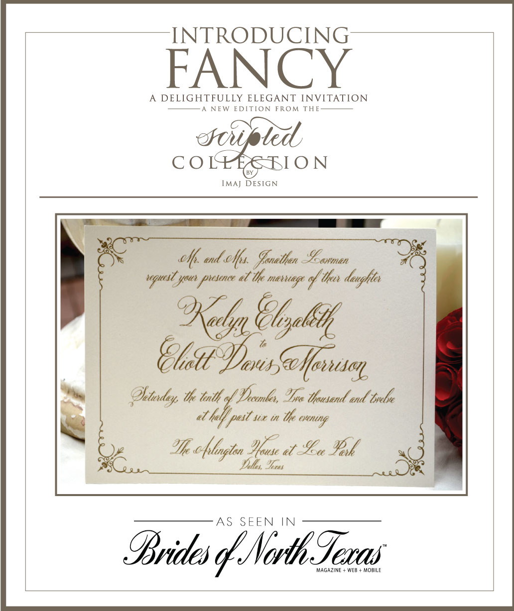 Cursive Wedding Invitations: Lettering Art Studio