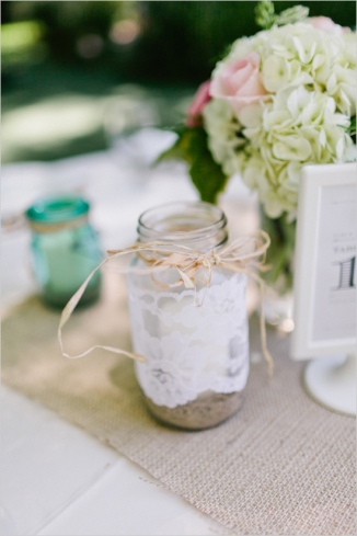decorative mason jar, mason jar candle holder, mason jars for weddings, lace srapped mason jar, diy wedding center pieces