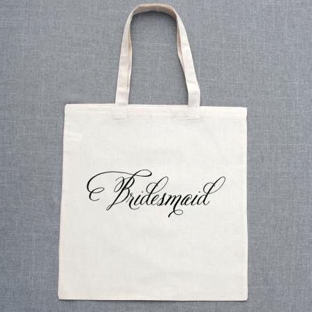 Belluccia font, cursive font, script font, wedding font, fancy font, personalized tote bags, bridesmaids gift,