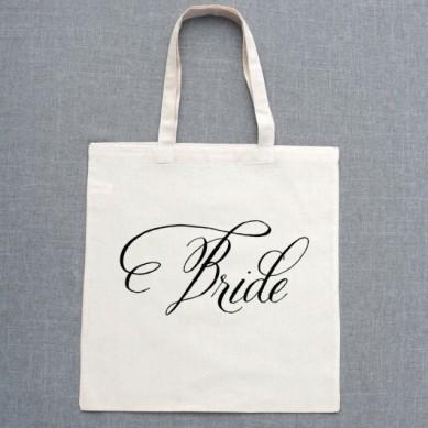 Belluccia font, cursive font, script font, wedding font, fancy font, personalized tote bags, bridesmaids gift, bride's tote bag