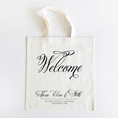 Belluccia font, cursive font, script font, wedding font, fancy font, personalized tote bags, bridesmaids gift,Welcome tote bag, OOT guest bag