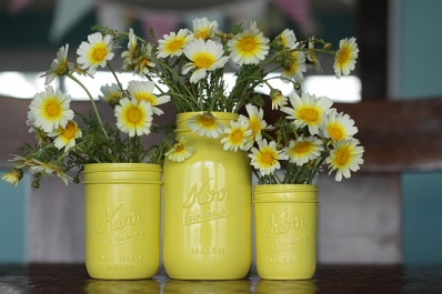 mason jar, decorated mason jar, mason jar with flowers, diy mason jar centerpieces, diy wedding