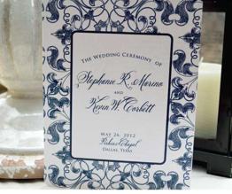 belluccia font, calligraphy font, script font, cursive font, fancy font, calligraphy wedding invitation,blue and white wedding invitation suite, blue and whtie wedding program