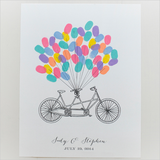 Free Wedding Book: Free Bicycle Thumb Print Guest Book From Wedding Chicks