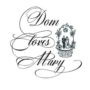 DomLovesMary font, cursive font, script font, wedding font, calligraphy font, wedding invitation, hand lettered font