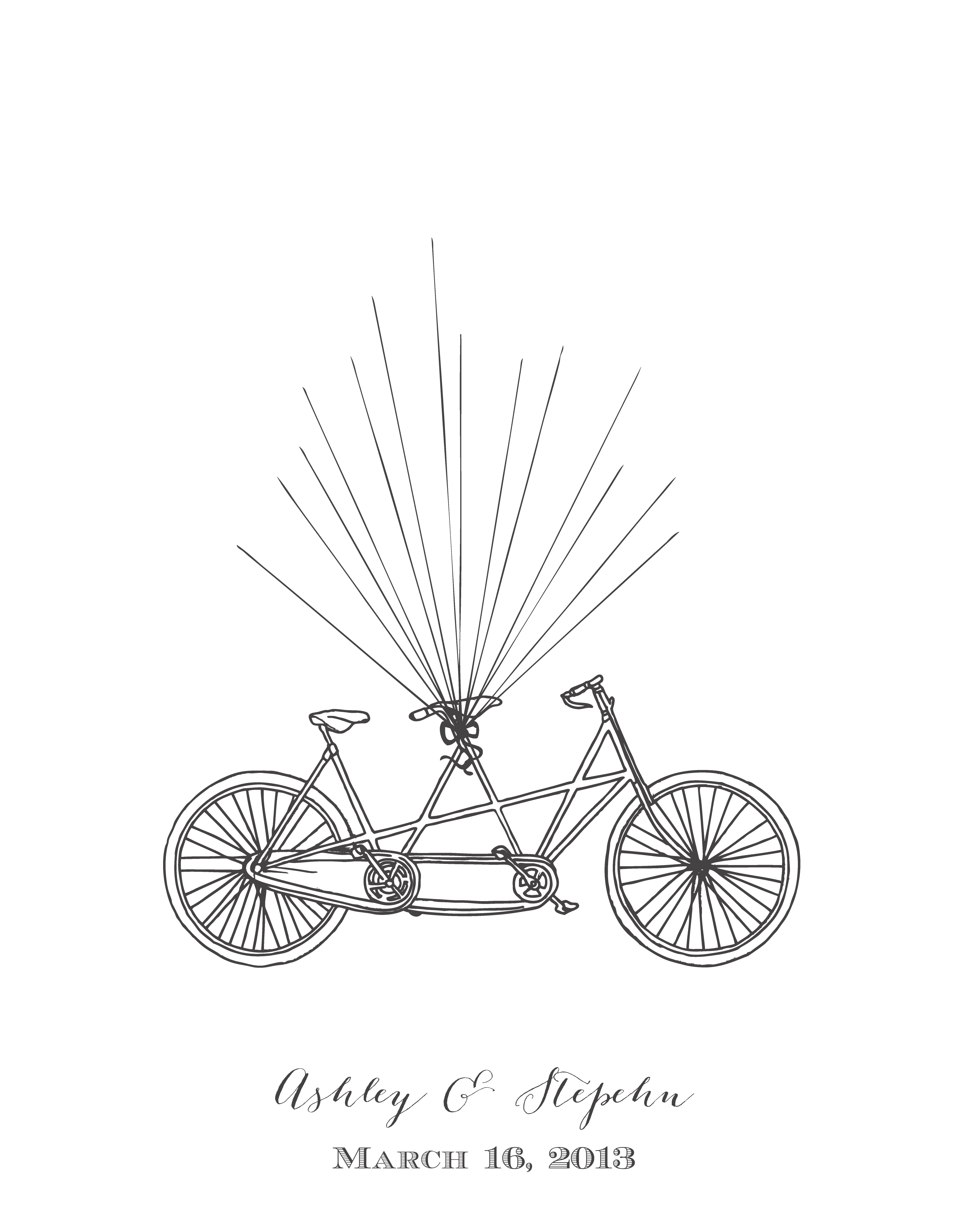 Free Bicycle Thumb Print Guest Book From Wedding Chicks