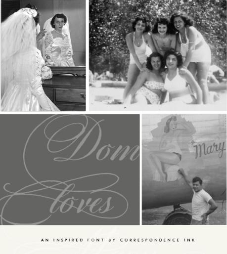 DomLovesMary font, calligraphy font, script font, cursive font, hand lettered font, wedding font, fancy font