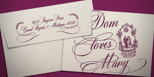 DomLovesMary font, calligraphy font, cursive font, script font, wedding font, hand lettered font, calligraphy font