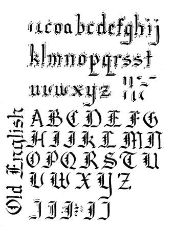 Old English lettering download, calligraphy, hand lettering, free lettering download